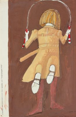 Co Westerik, 'Girl Skipping Rope', 1976, brush and watercolour on paper. Museum Boijmans Van Beuningen, Rotterdam.