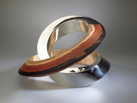 Infinitas II 2012 silver, bamboo, bubinga, ebony. Fred Weegenaar